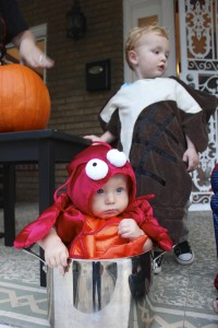 SheJustGlows.com Surf & Turf (Steak & Lobster) Kid Halloween Costume Idea