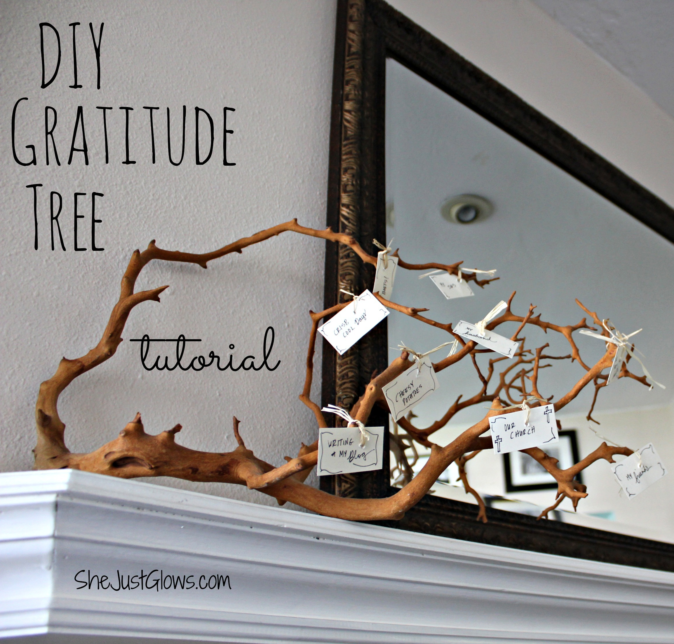 DIY Gratitude Tree Tutorial SheJustGlows.com