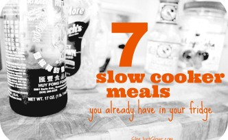 7 Slow Cooker Meals You Already Have in Your Fridge SheJustGlows.com