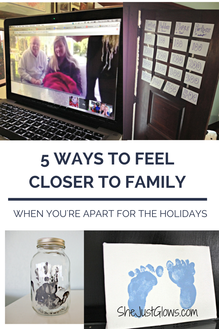 5 Ways to Feel Closer to Family When You're Apart for the Holidays SheJustGlows.com