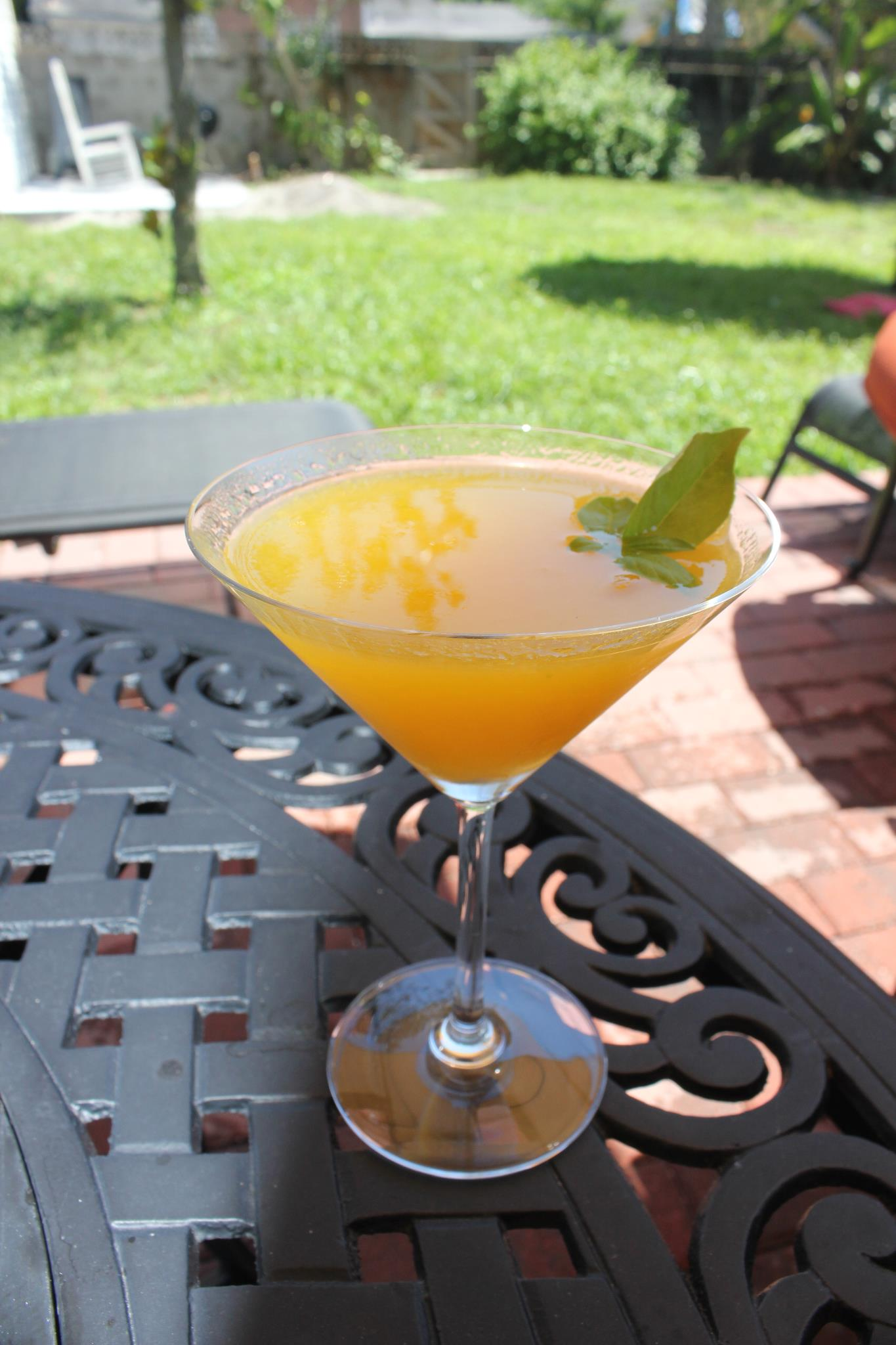 Homemade Mango-Basil Martini SheJustGlows.com