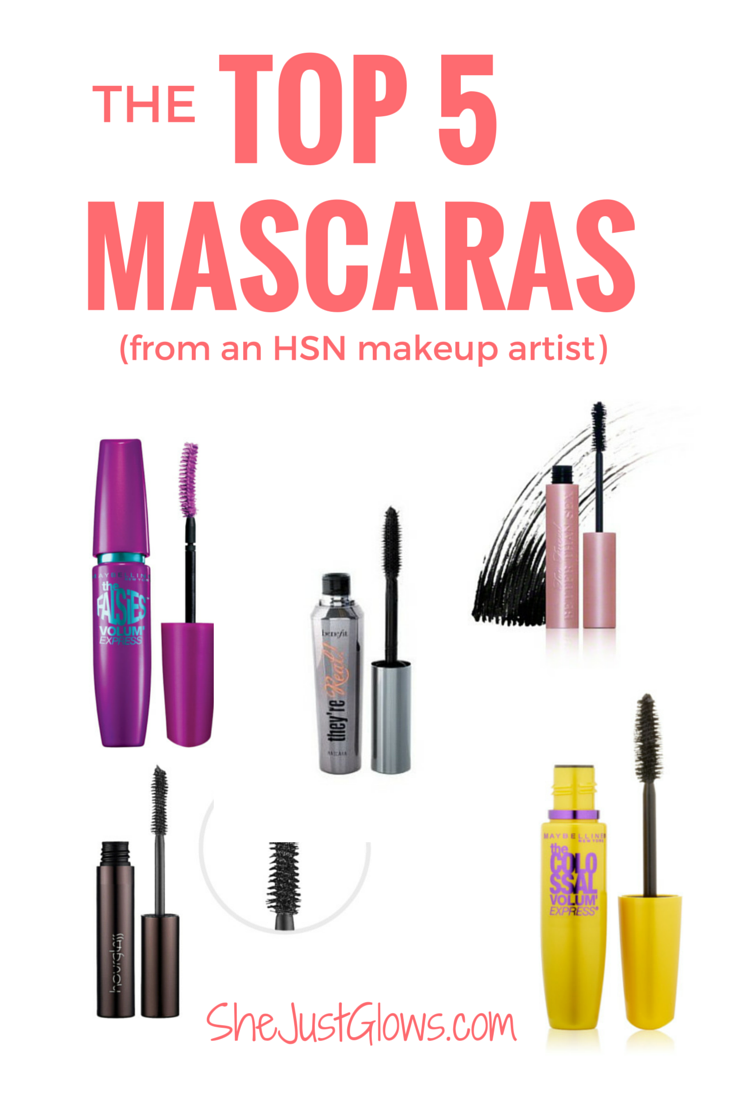 My Top 5 Mascaras (From an HSN Makeup Artist!) SheJustGlows.com Best Mascara