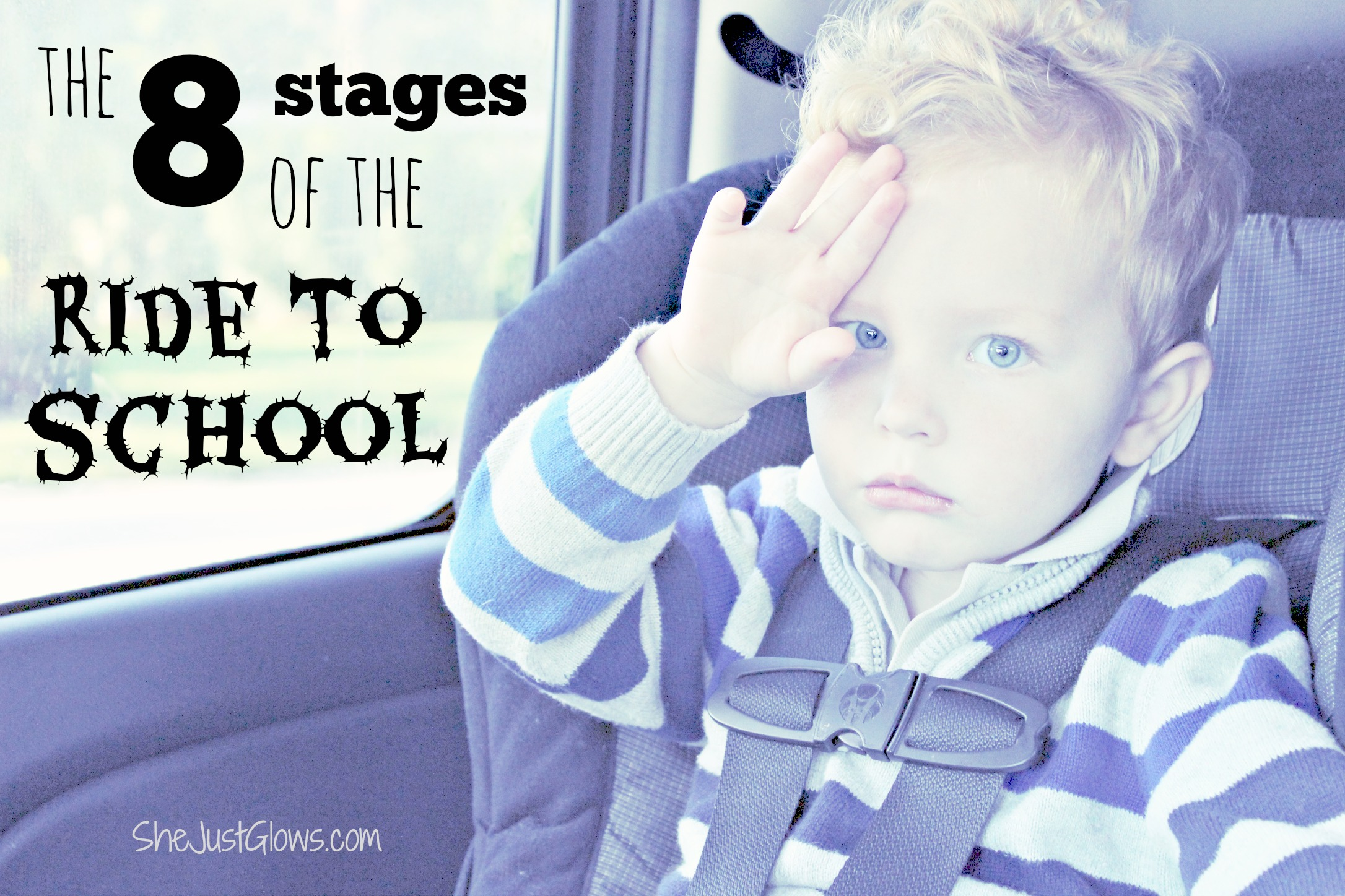 The 8 Stages of the Ride to School SheJustGlows.com