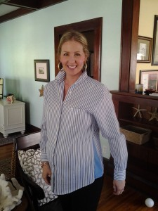 52 Cents to Convert a Collared Shirt to Maternity Wear SheJustGlows.com