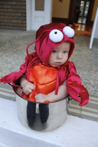 Baby Lobster Costume SheJustGlows.com