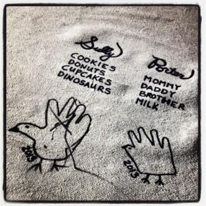 SheJustGlows.com DIY I Am Grateful Tablecloth