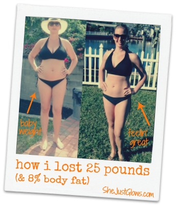 How I Lost 8% Body Fat and 25 Pounds SheJustGlows.com