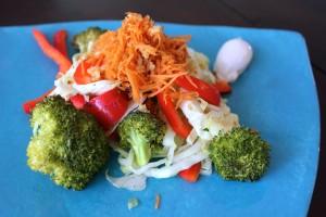 Far-Out, Far East Roasted Cabbage Salad SheJustGlows.com