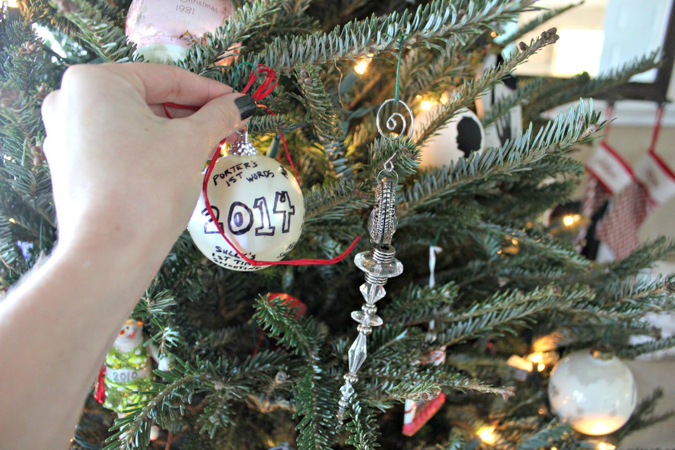 DIY Memory Ball Christmas Ornament SheJustGlows.com