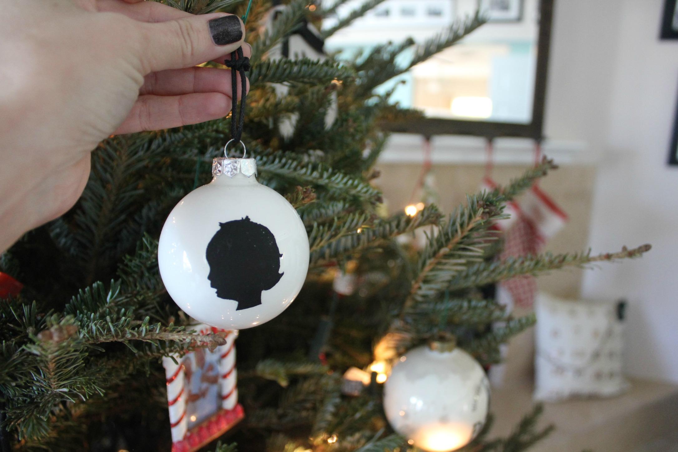 DIY Silhouette Ornament SheJustGlows.com