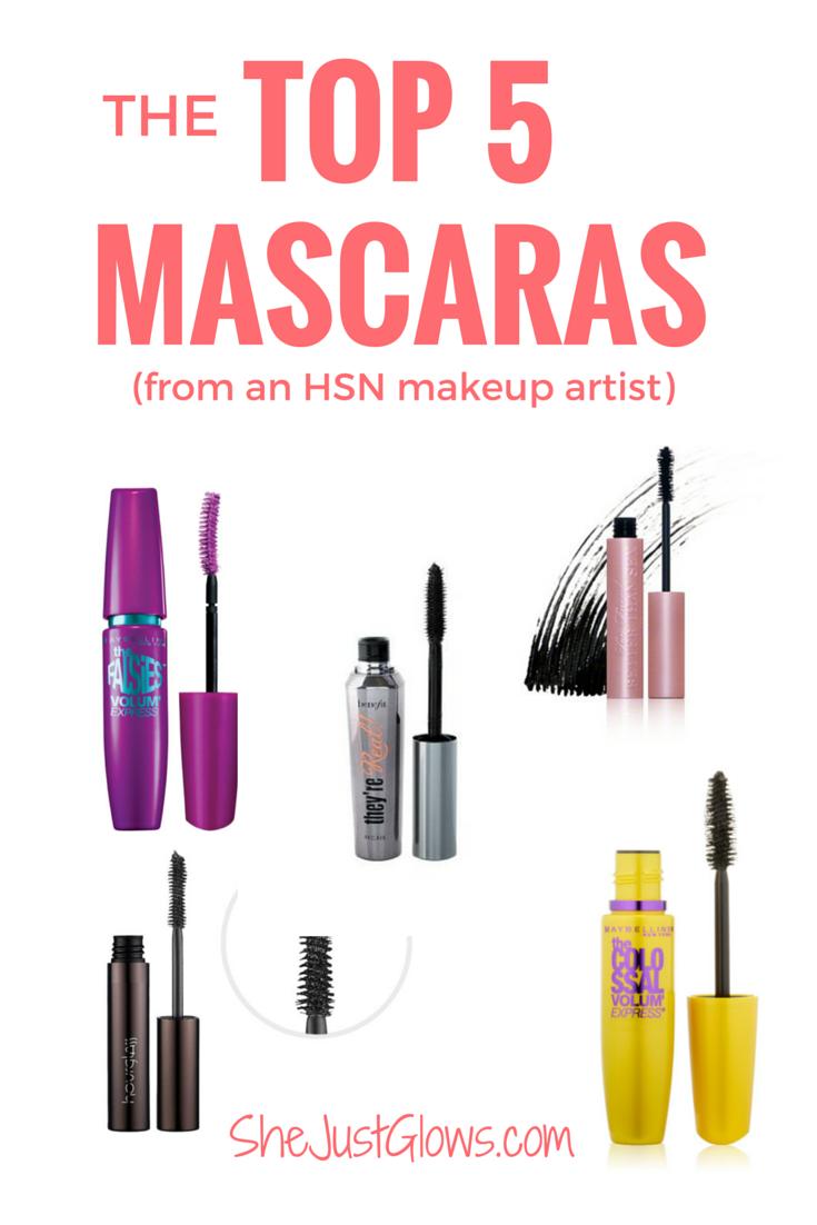 My Top 5 Mascaras (From an HSN Makeup Artist!) SheJustGlows.com Best Mascara